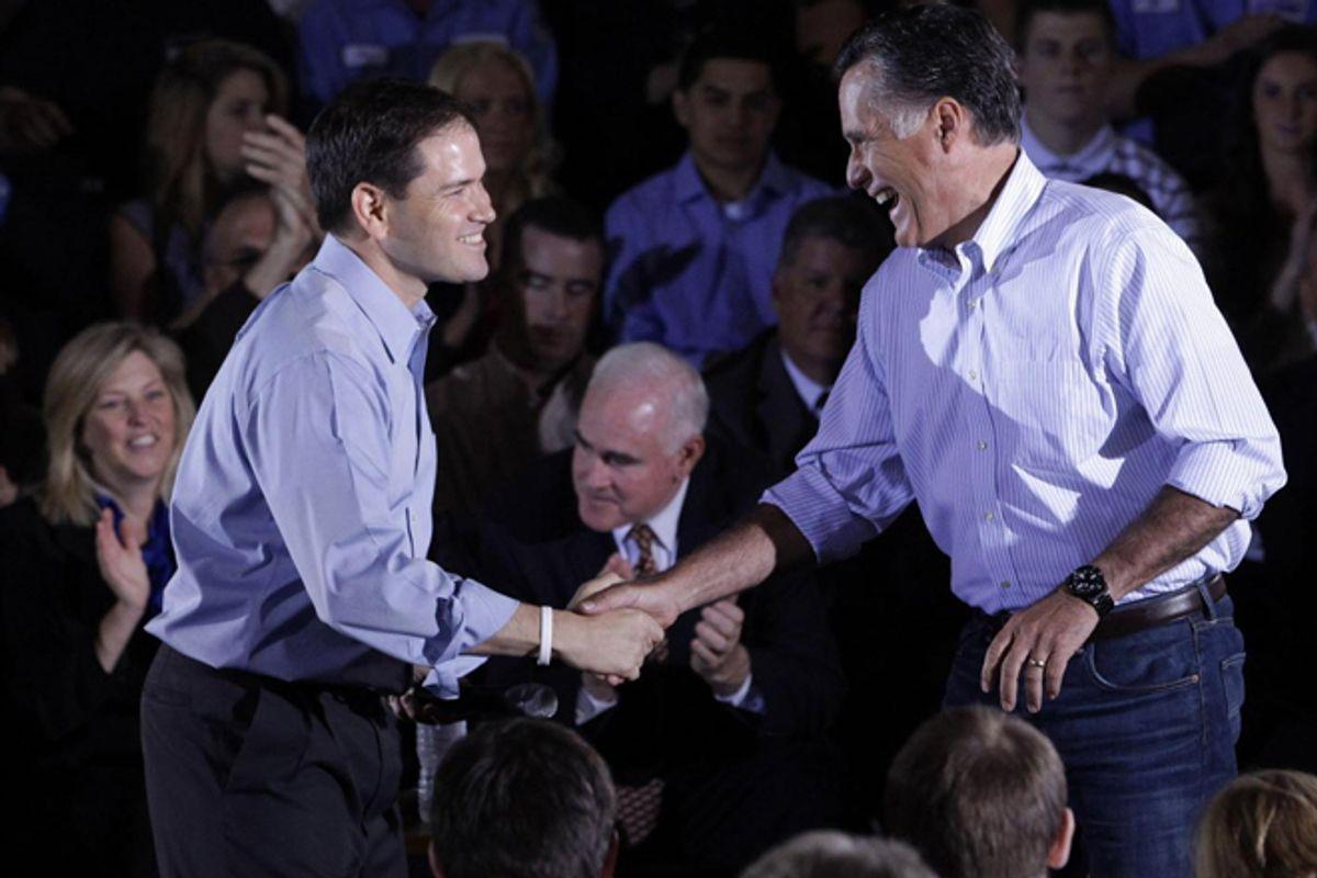 Marco Rubio and Mitt Romney     (AP/Jae C. Hong)