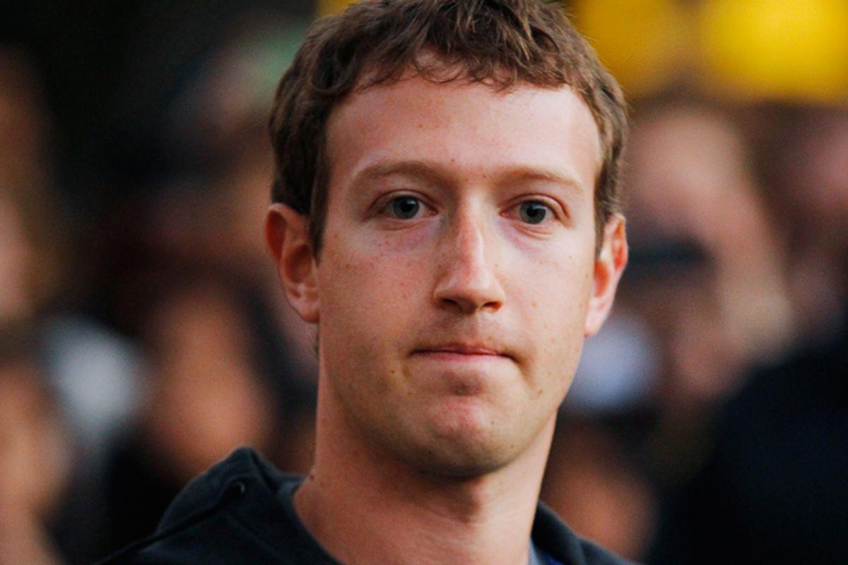 Mark Zuckerberg         (Reuters/Brian Snyder)
