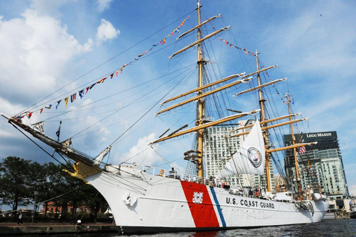 A Coast Guard ship in Baltimore on June 15.