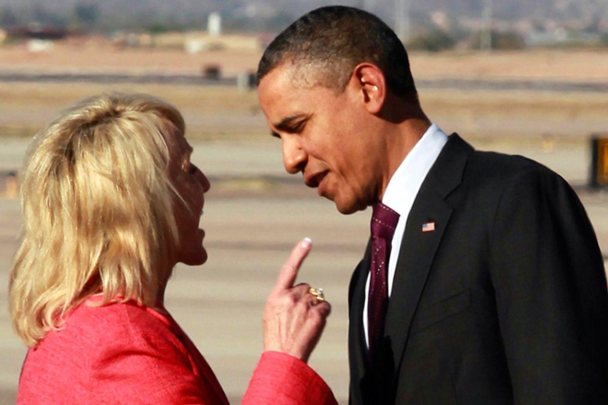 Jan Brewer and Barack Obama           (AP)