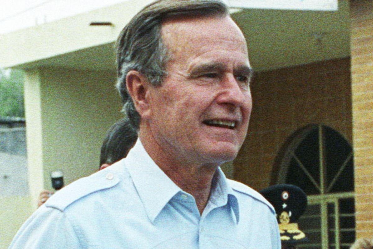 George H.W. Bush in 1990.    (Reuters/Gary Cameron)