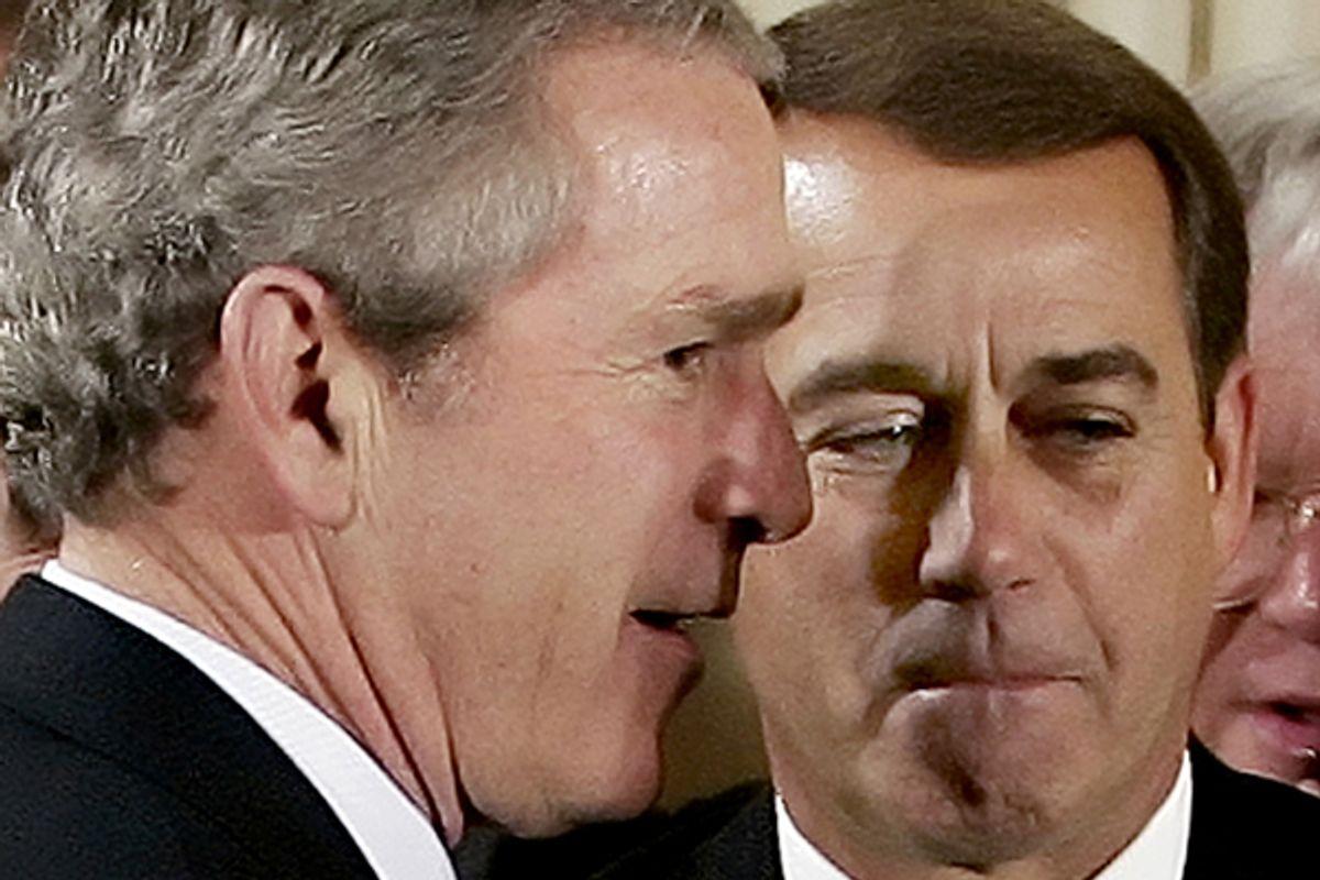 George W. Bush and John Boehner       (Reuters/Jim Young)