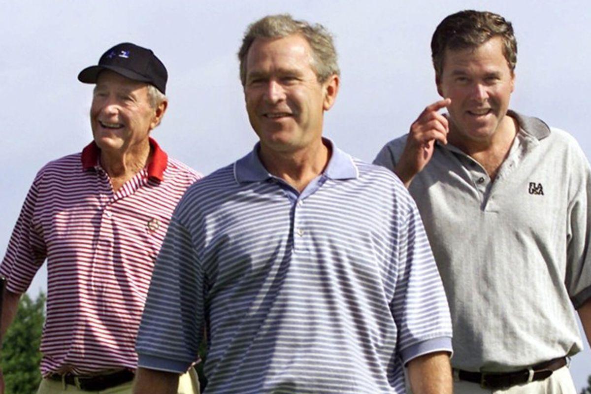 George H.W. Bush, George W. Bush and Jeb Bush      (AP/J. Scott Applewhite)