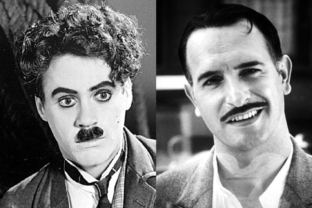 """Robert Downey Jr. in """"Chaplin"""" and Jean Dujardin in """"The Artist"""""""