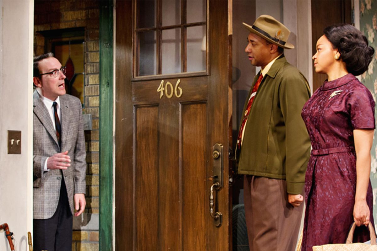 """Jeremy Shamos, Damon Gupton and Crystal A. Dickinson in """"Clybourne Park""""       (AP/The O+M Co., Nathan Johnson Photography)"""