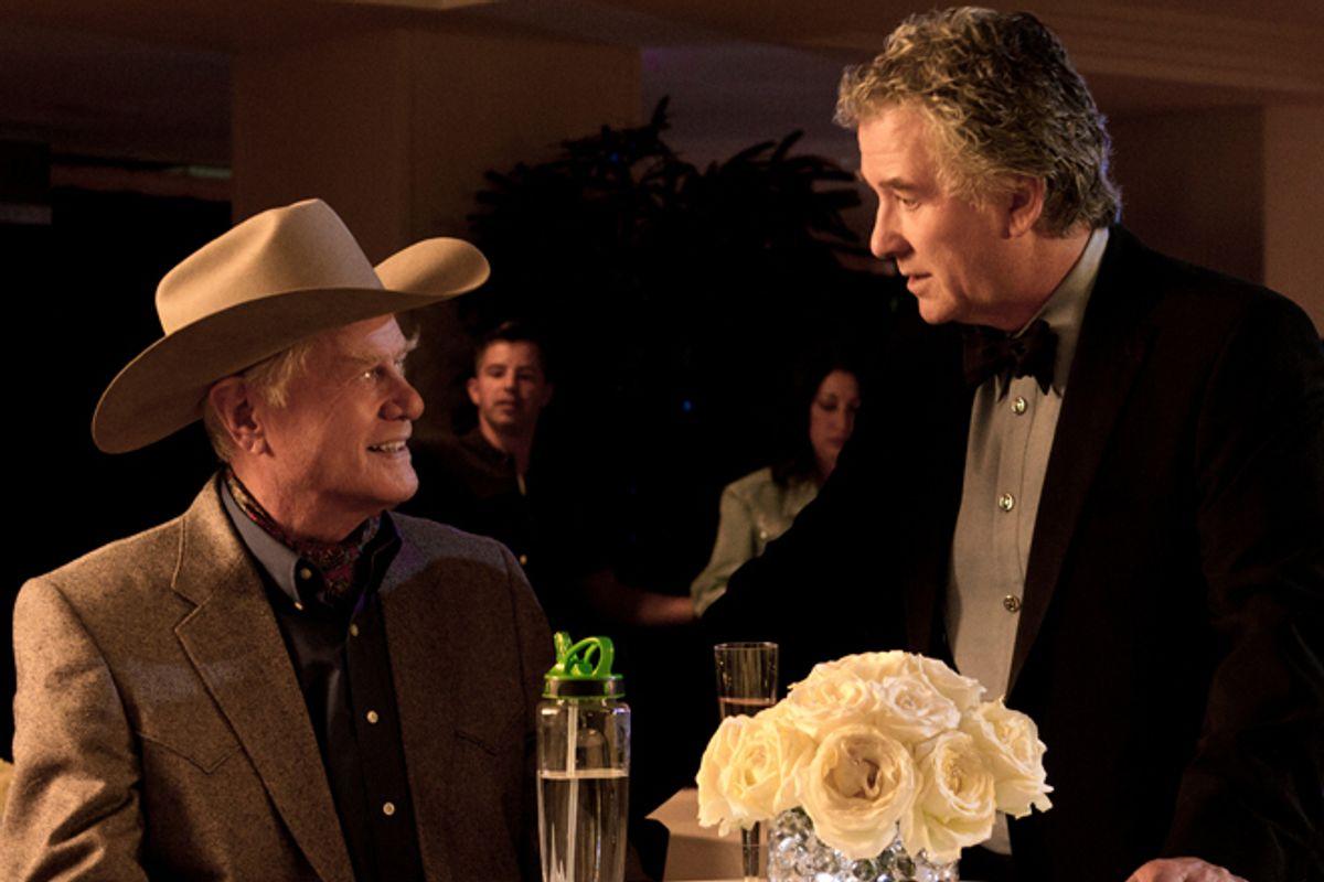 "Larry Hagman and Patrick Duffy in ""Dallas"""