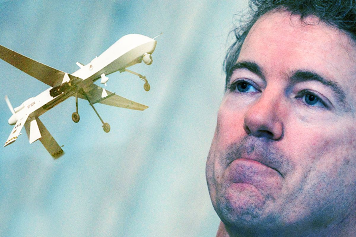 Rand Paul seeks to ground drones at home