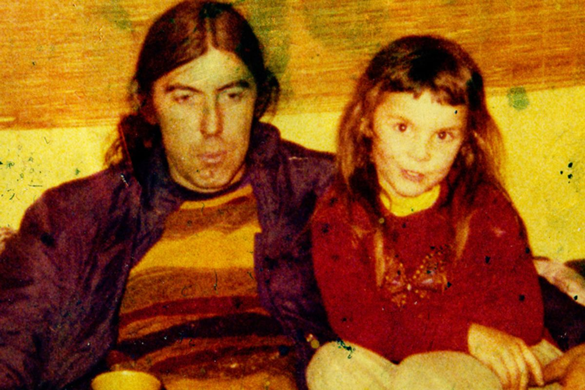 A photo of the author with her dad.