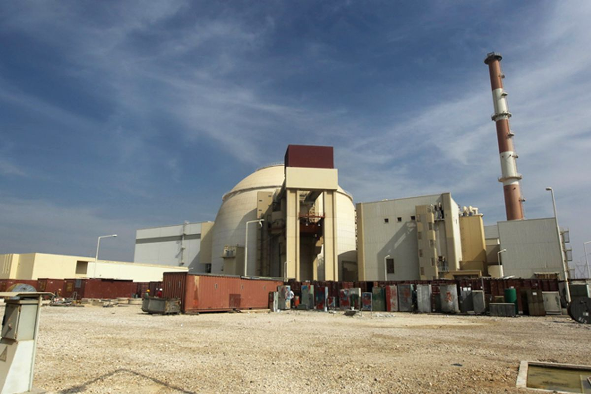 The Bushehr nuclear power plant in Iran.    (AP/Mehr News Agency, Majid Asgaripour)