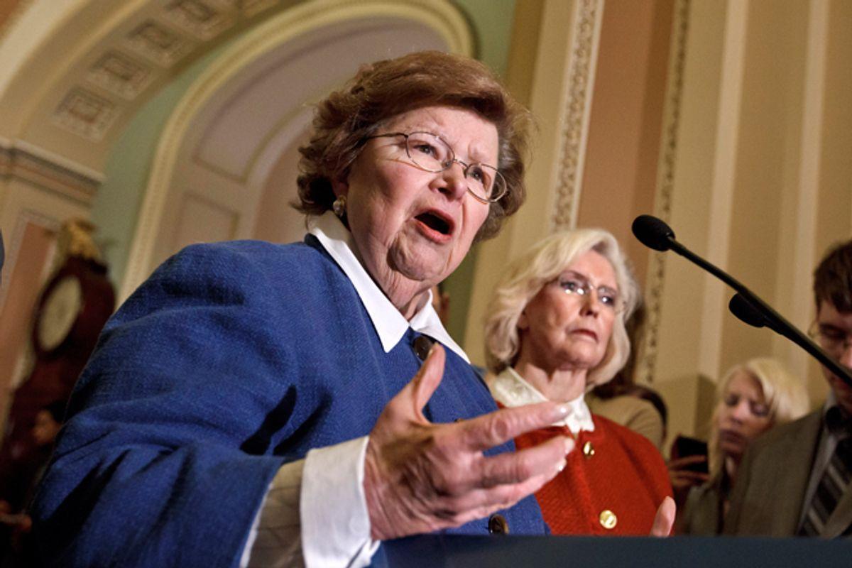 Barbara Mikulski and Lilly Ledbetter  (AP/J. Scott Applewhite)