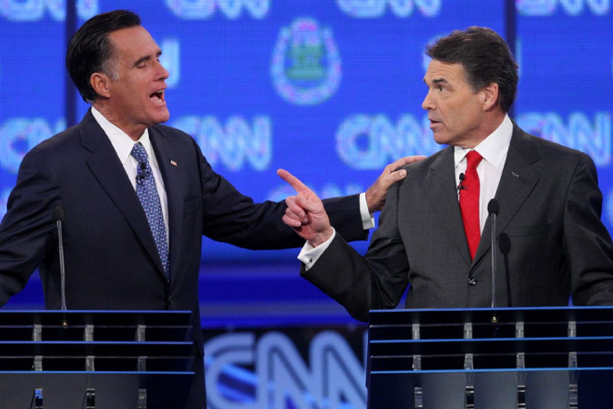 Mitt Romney and Rick Perry      (Reuters/Steve Marcus)