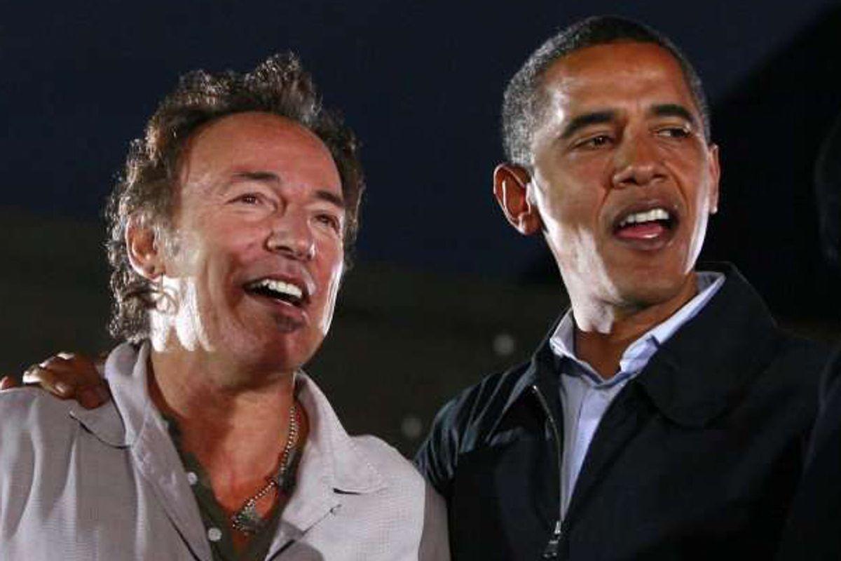 Bruce Springsteen and Barack Obama    (Reuters/Jason Reed)