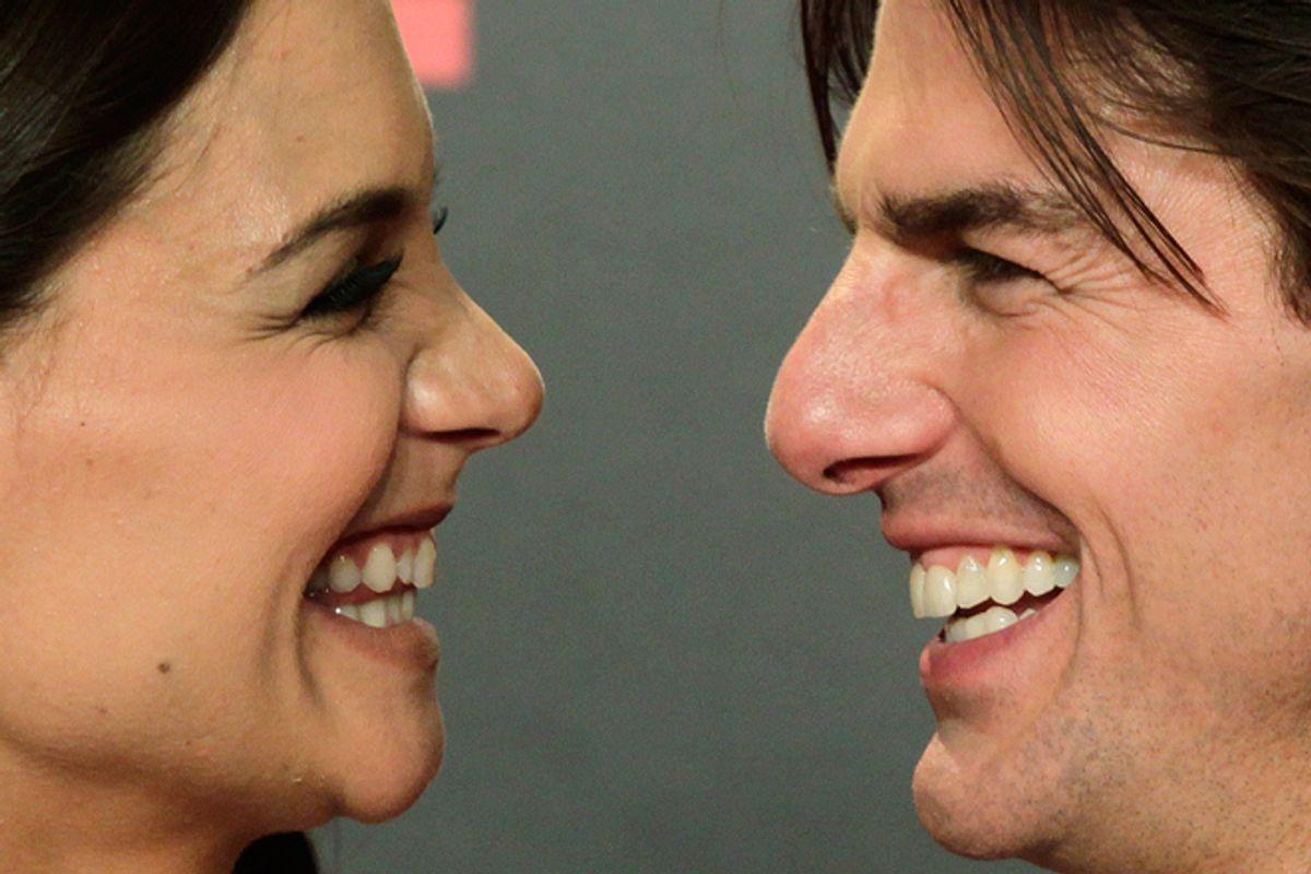 Katie Holmes and Tom Cruise    (AP/Toni Rodriguez)