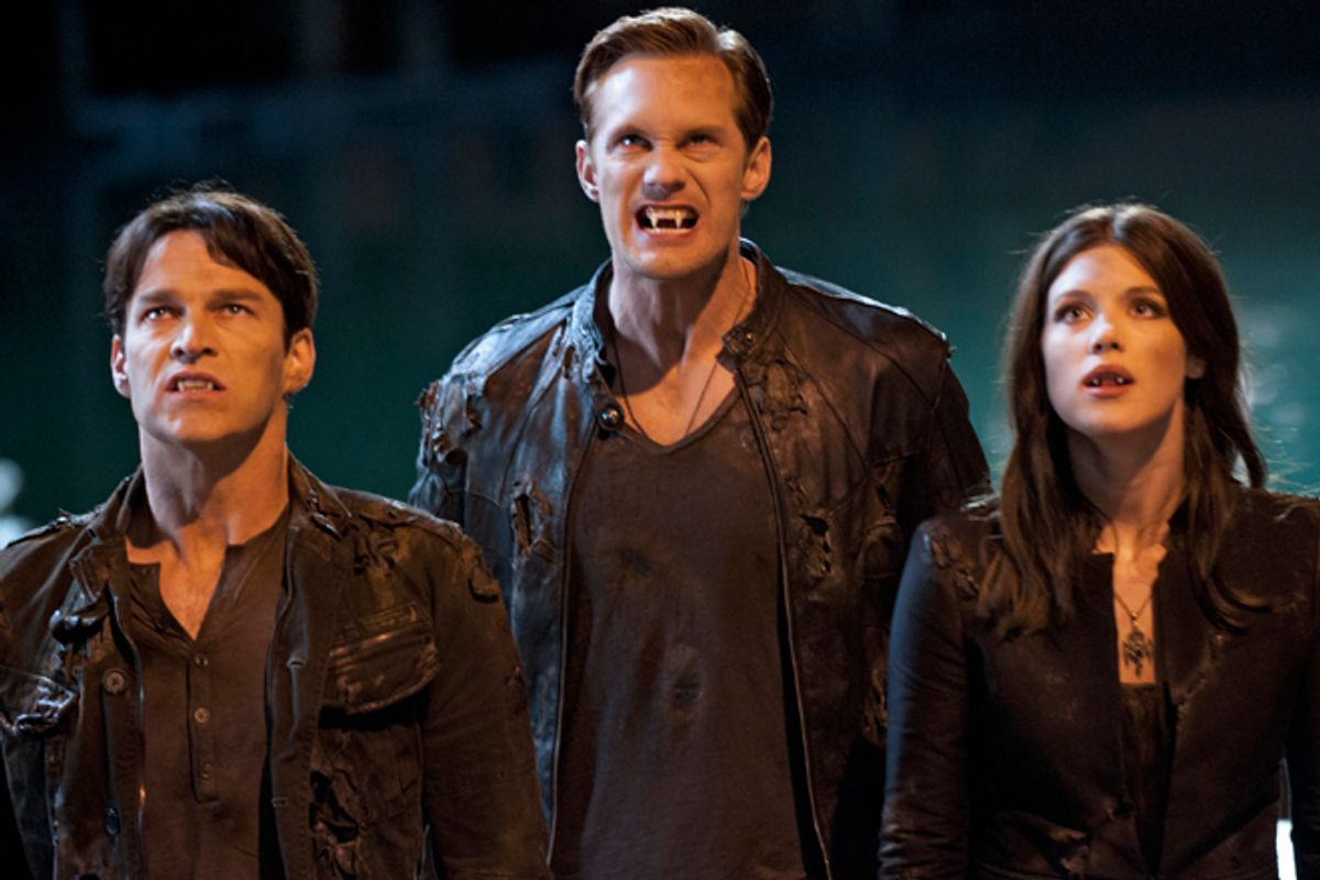 """Stephen Moyer, Alexander Skarsgard and Lucy Griffith in """"True Blood"""""""