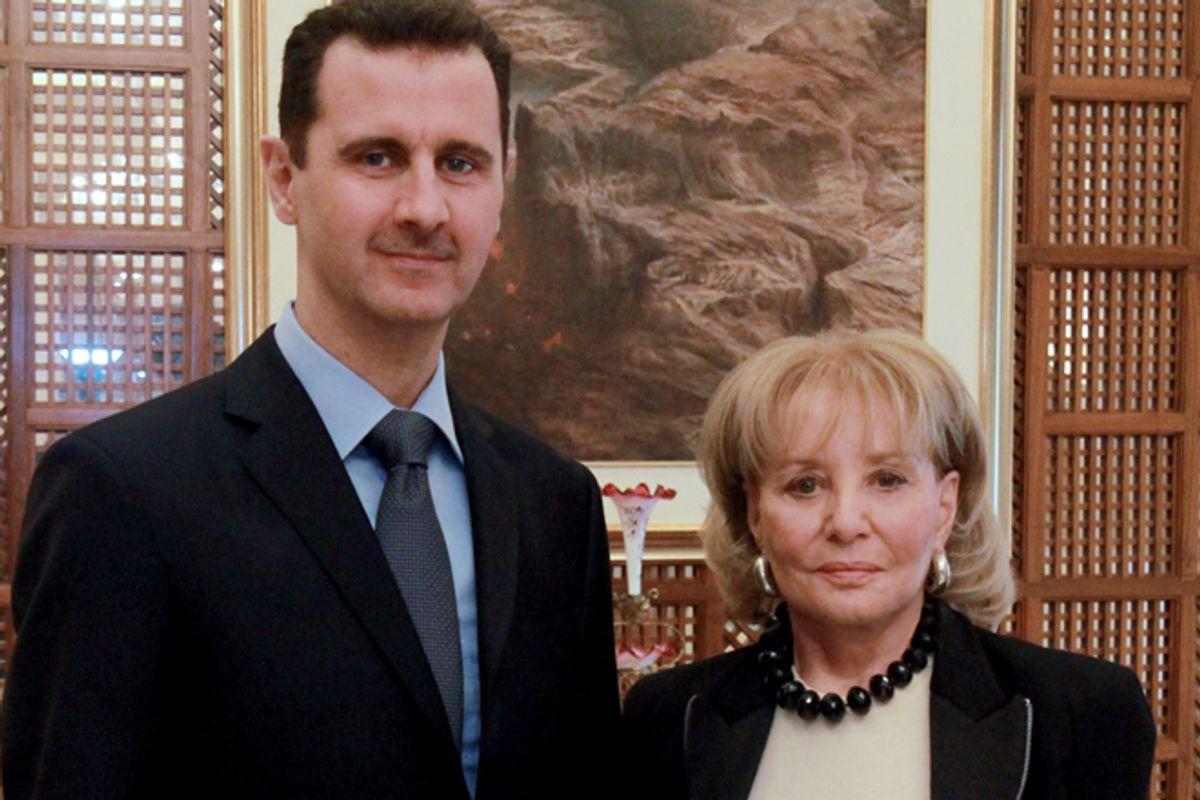 Bashar Al-Assad and Barbara Walters      (AP/Rob Wallace)