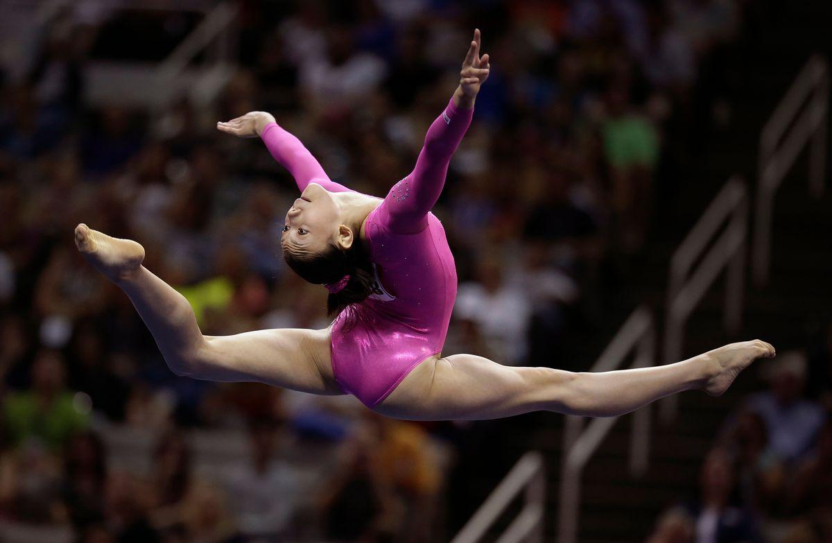 during the preliminary round of the women's Olympic gymnastics trials, Friday, June 29, 2012, in San Jose, Calif. (AP Photo/Jae C. Hong)  (Jae C. Hong)