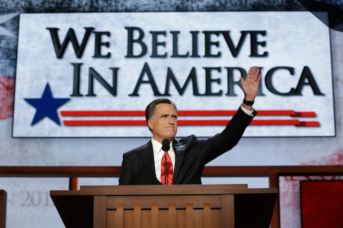 the Republican National Convention in Tampa, Fla., on Thursday, Aug. 30, 2012.  (AP/Charles Dharapak)