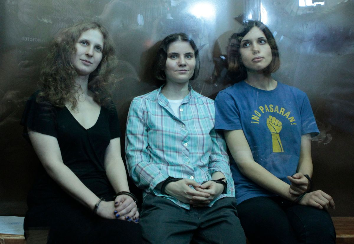 Members of the female punk band Pussy Riot               (Reuters)