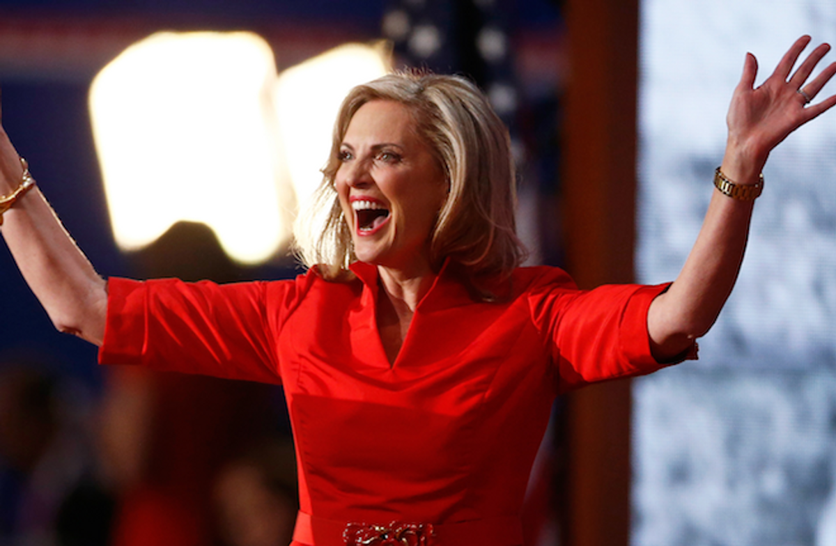 Ann Romney reacts after she addressed delegates during the second day of the Republican National Convention in Tampa, Florida August 28, 2012  (Reuters/Jason Reed)
