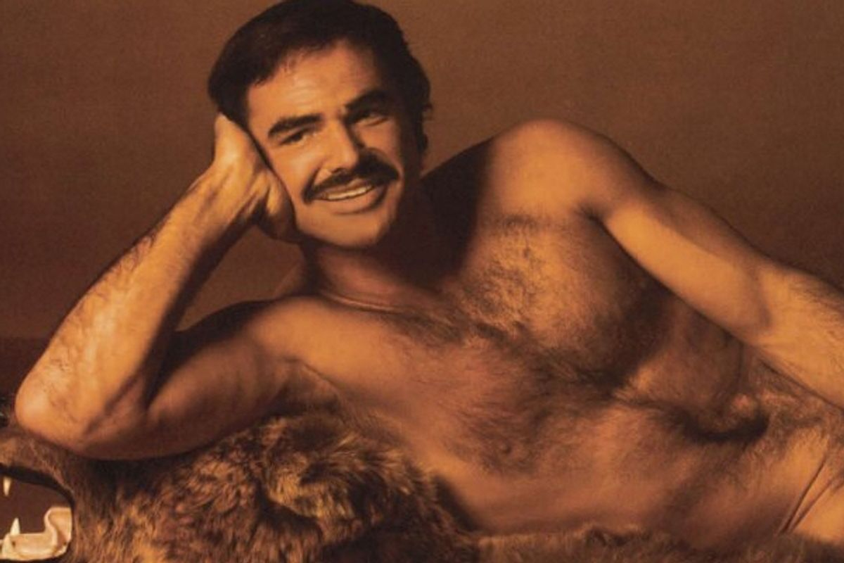 Burt Reynolds in the April 1972 issue of Cosmopolitan