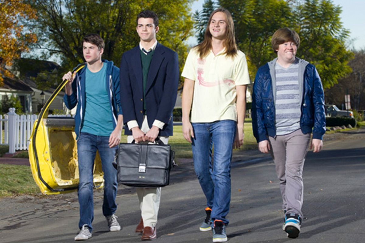 "The cast of MTV's ""The Inbetweeners"""