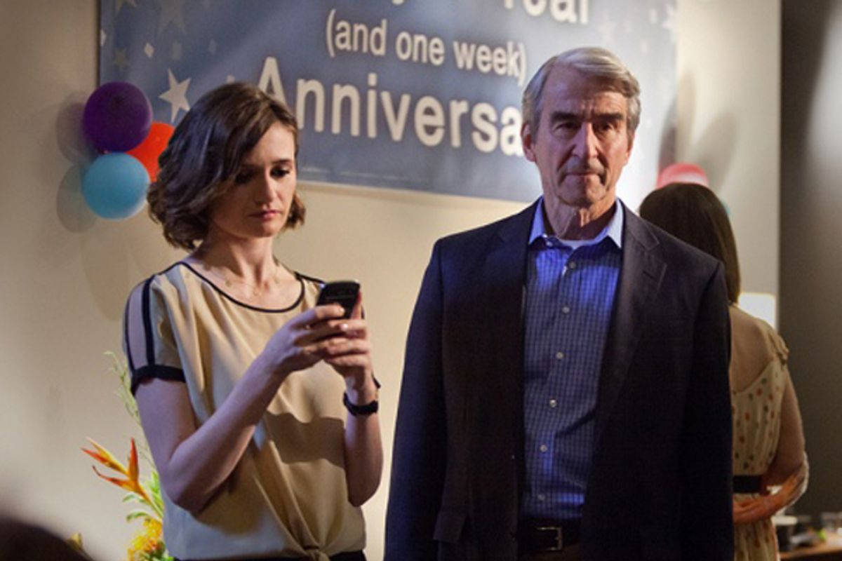 """Emily Mortimer and Sam Waterston in """"The Newsroom"""""""
