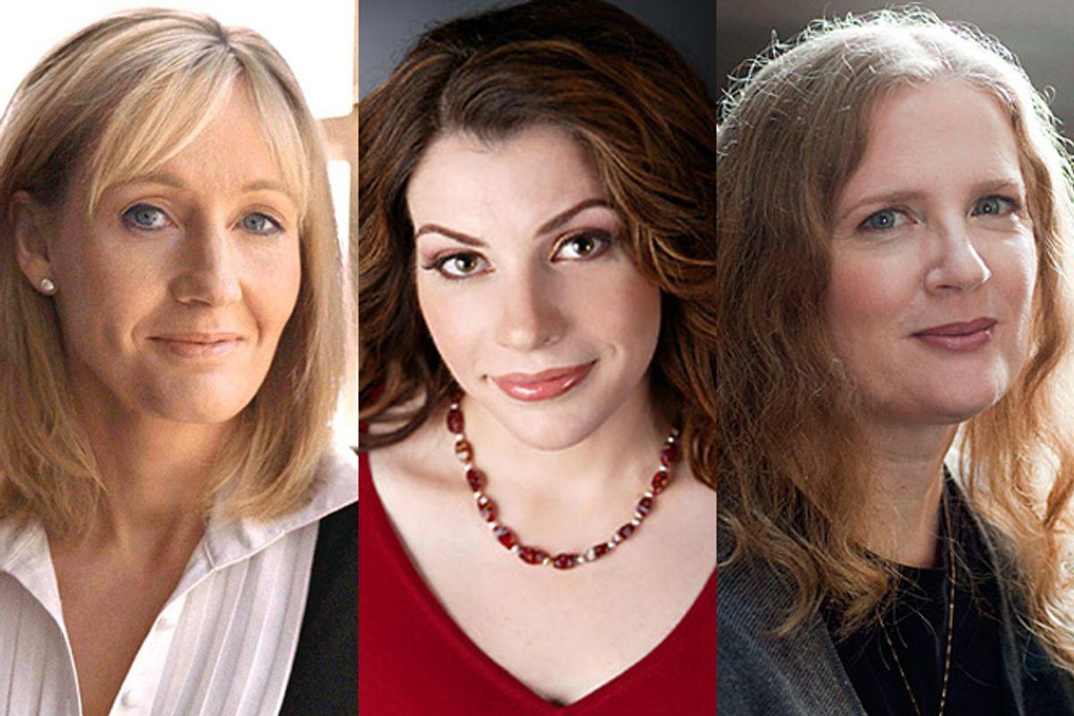 J.K. Rowling, Stephenie Meyer and Suzanne Collins