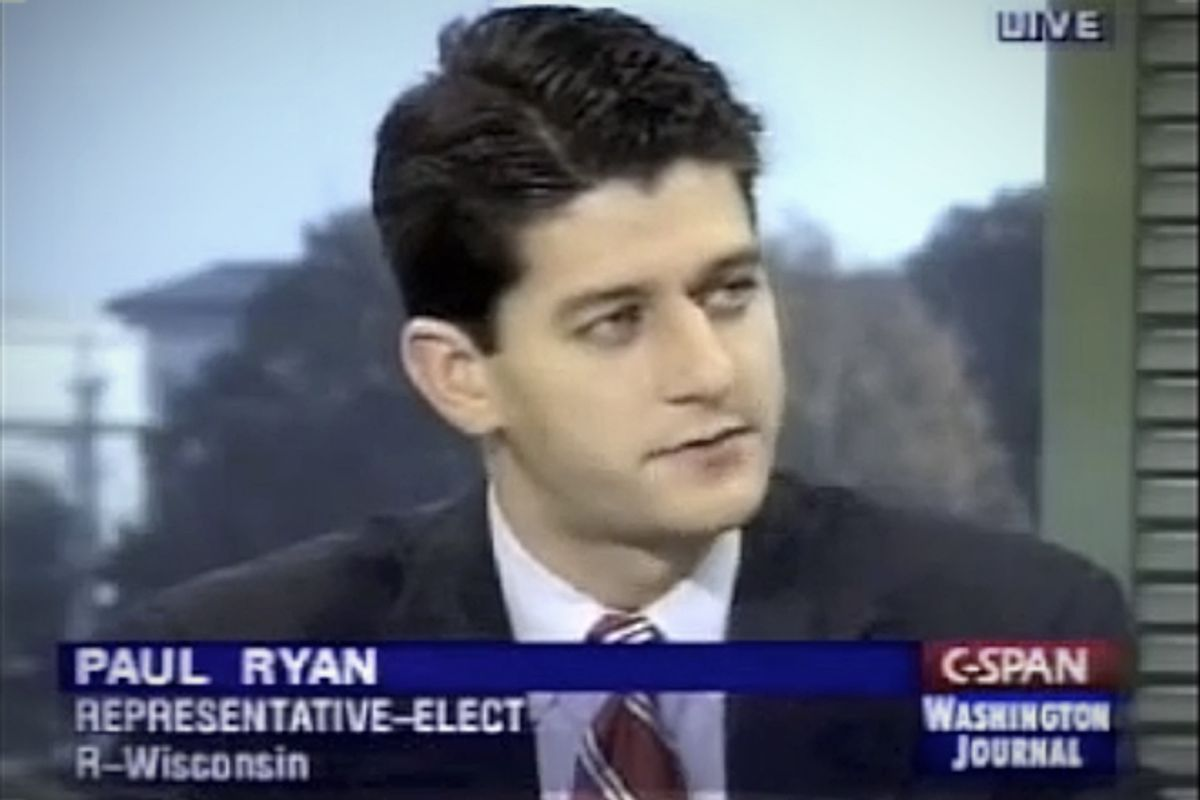Paul Ryan appears on C-SPAN in 1998, after he was elected to Congress.