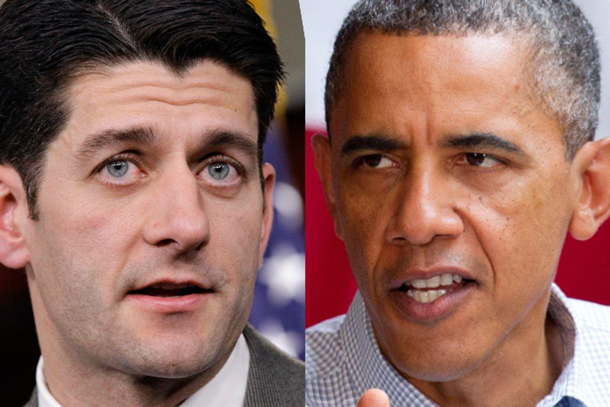 Paul Ryan and Barack Obama      (AP)
