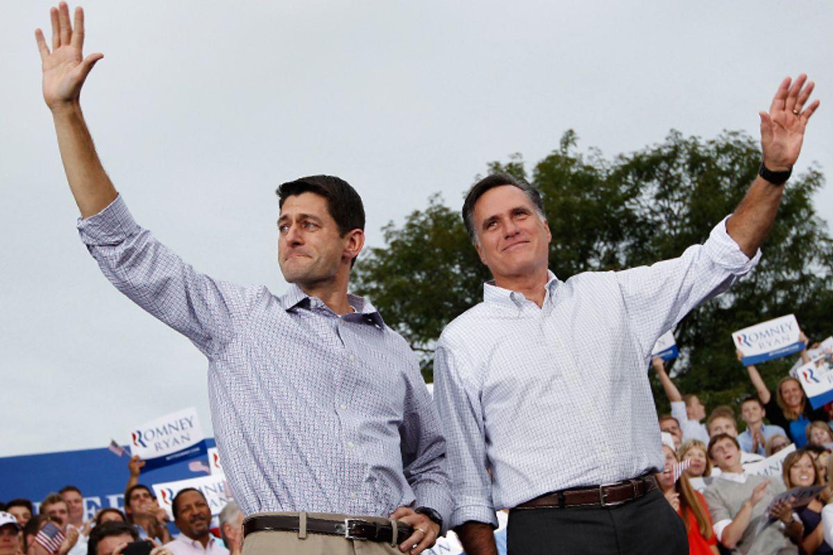 Paul Ryan and Mitt Romney      (Reuters/Shannon Stapleton)