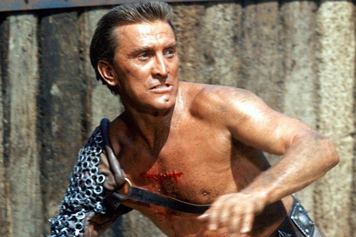 """Kirk Douglas in """"Spartacus"""""""