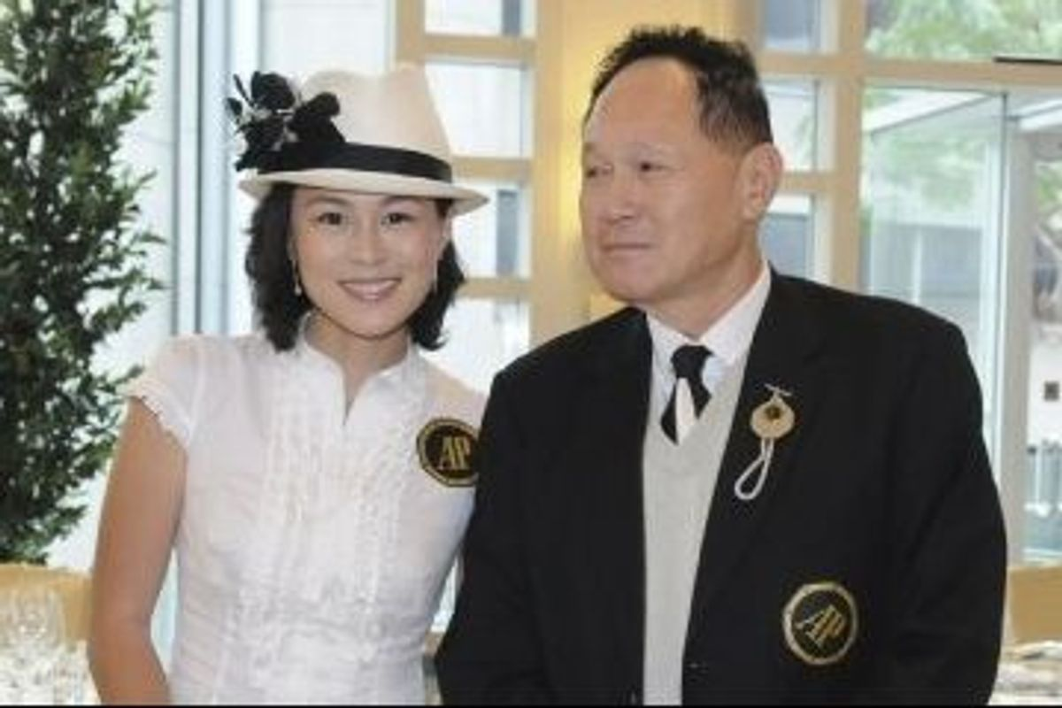 Gigi Chao and her father, Cecil Chao.