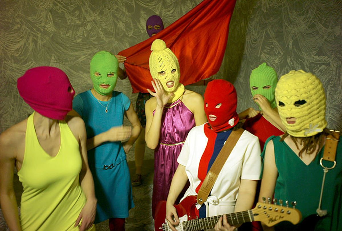 Seven members of Pussy Riot (Wikimedia)