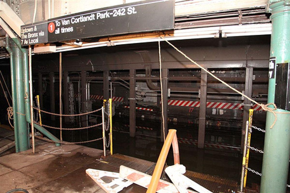 Platform at South Ferry station, Manhattan (MTA Photos)