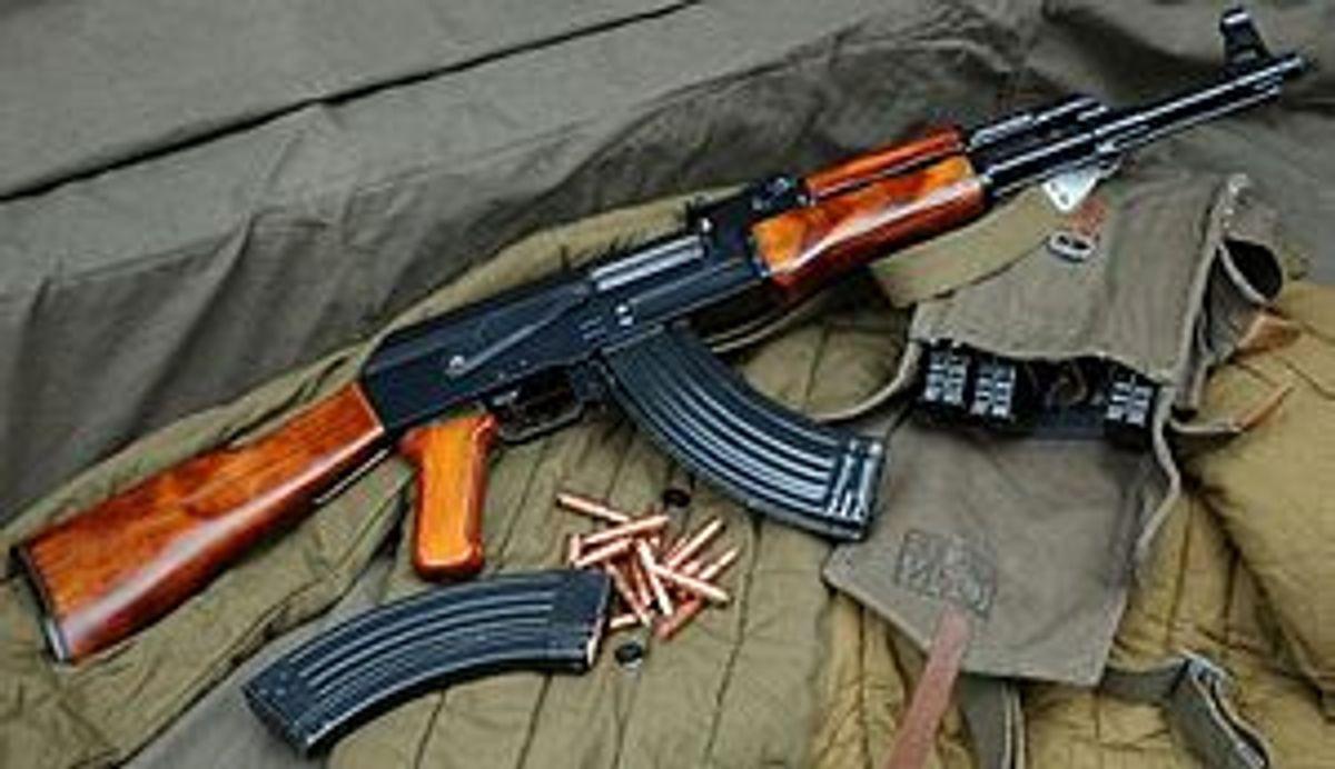 An AK-47                  (Wikipedia)