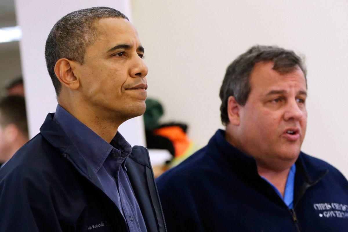 Barack Obama and Chris Christie      (AP/Pablo Martinez Monsivais)