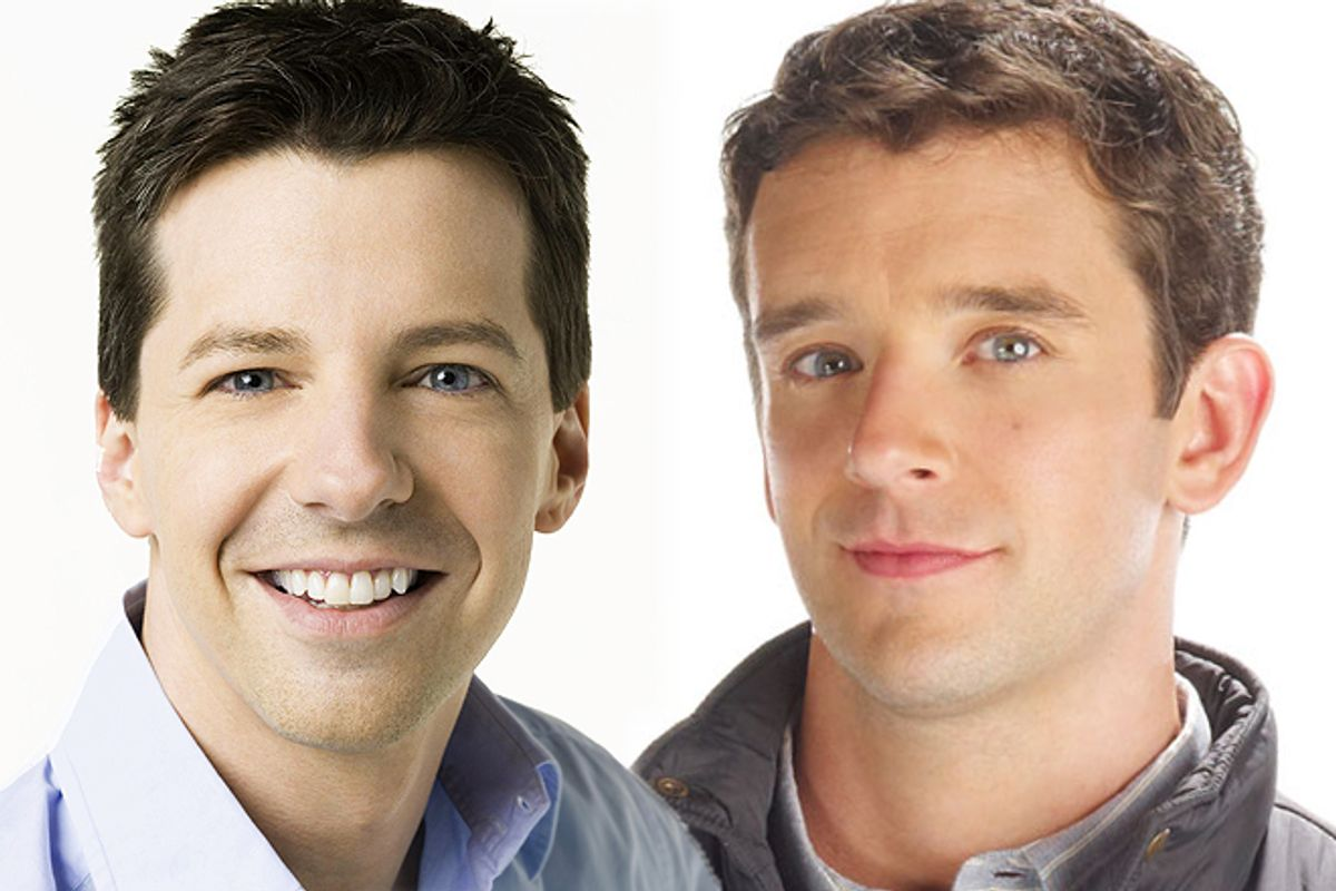 Sean Hayes and Michael Urie