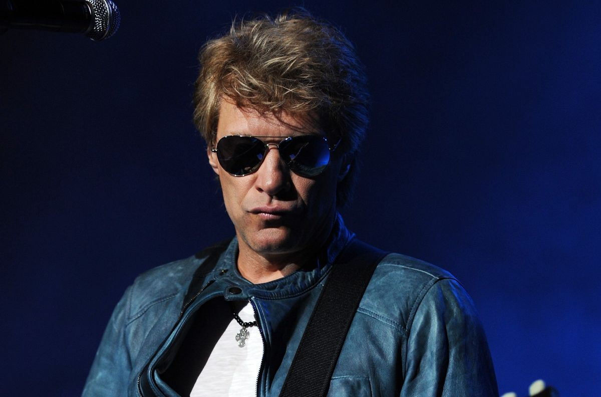 HOLLYWOOD , FL - JULY 26: Jon Bon Jovi performs with the Kings of Suburbia on the opening night of his debut solo tour at the Seminole Hard Rock Hotel and Casino on July 26, 2012 in Hollywood ,Florida. (Photo by Jeff Daly/Invision/AP)    (AP/Jeff Daly)