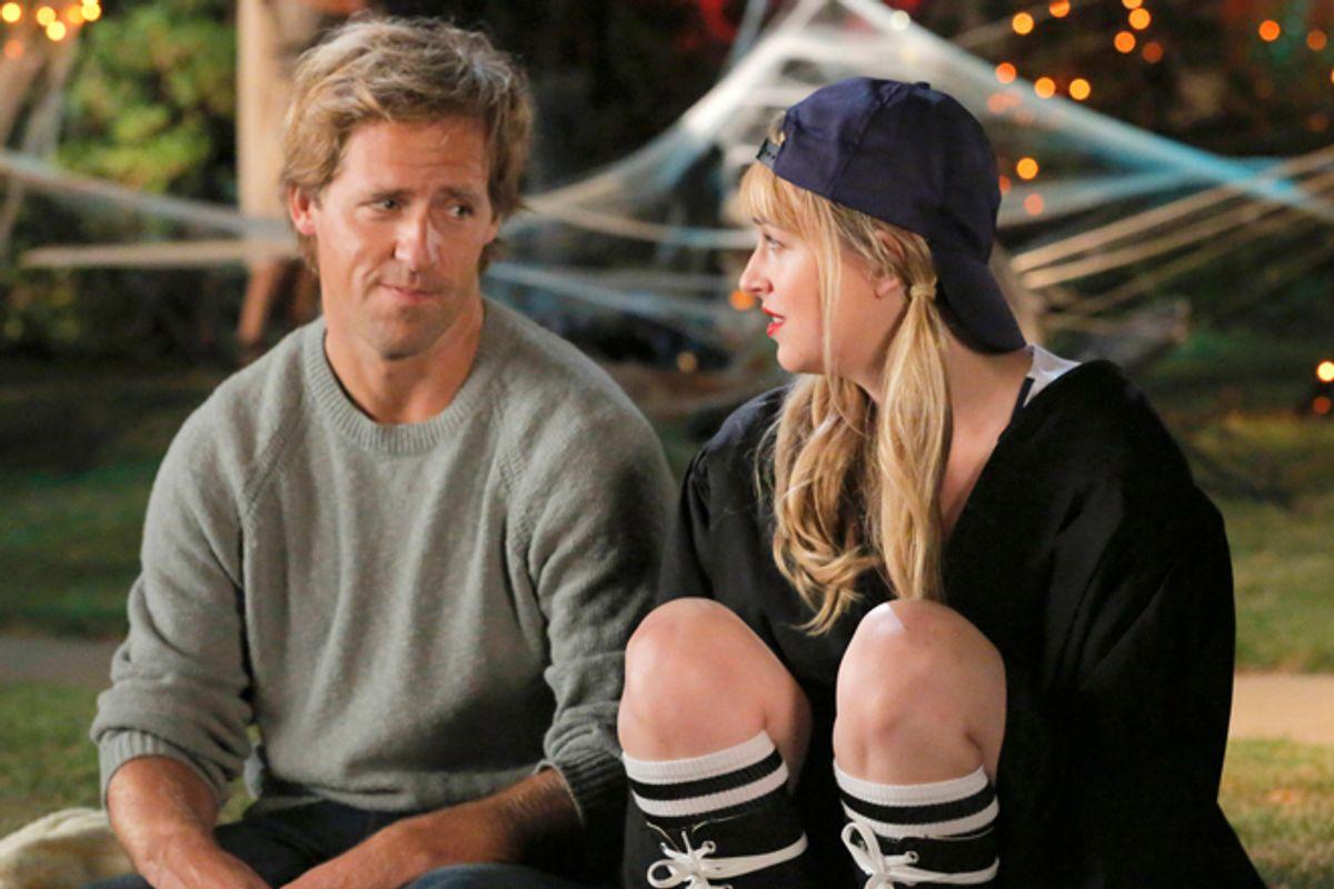 "Nat Faxon and Dakota Johnson in ""Ben and Kate"""