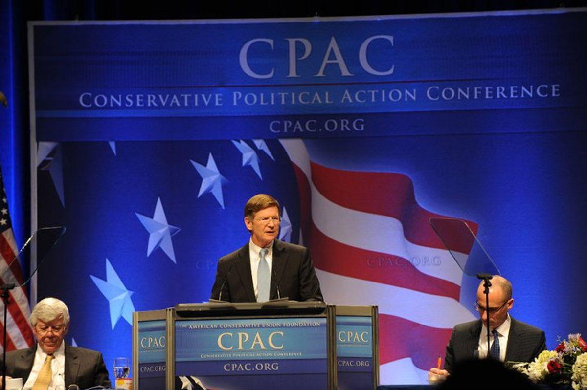 Rep. Lamar Smith, R-Texas, speaks at CPAC in 2011.    (Facebook/LamarSmithTX21)