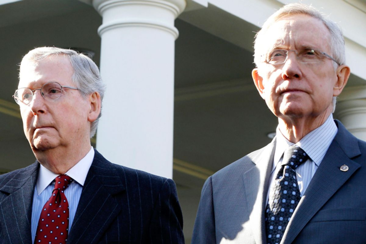 Mitch McConnell and Harry Reid              (AP/Jacquelyn Martin)