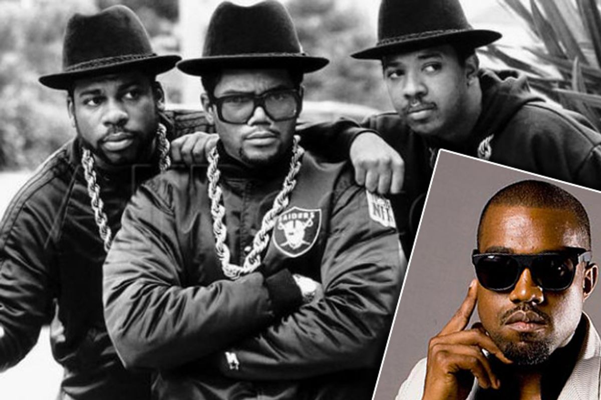 Run–D.M.C. and Kanye West (inset)      (AP)