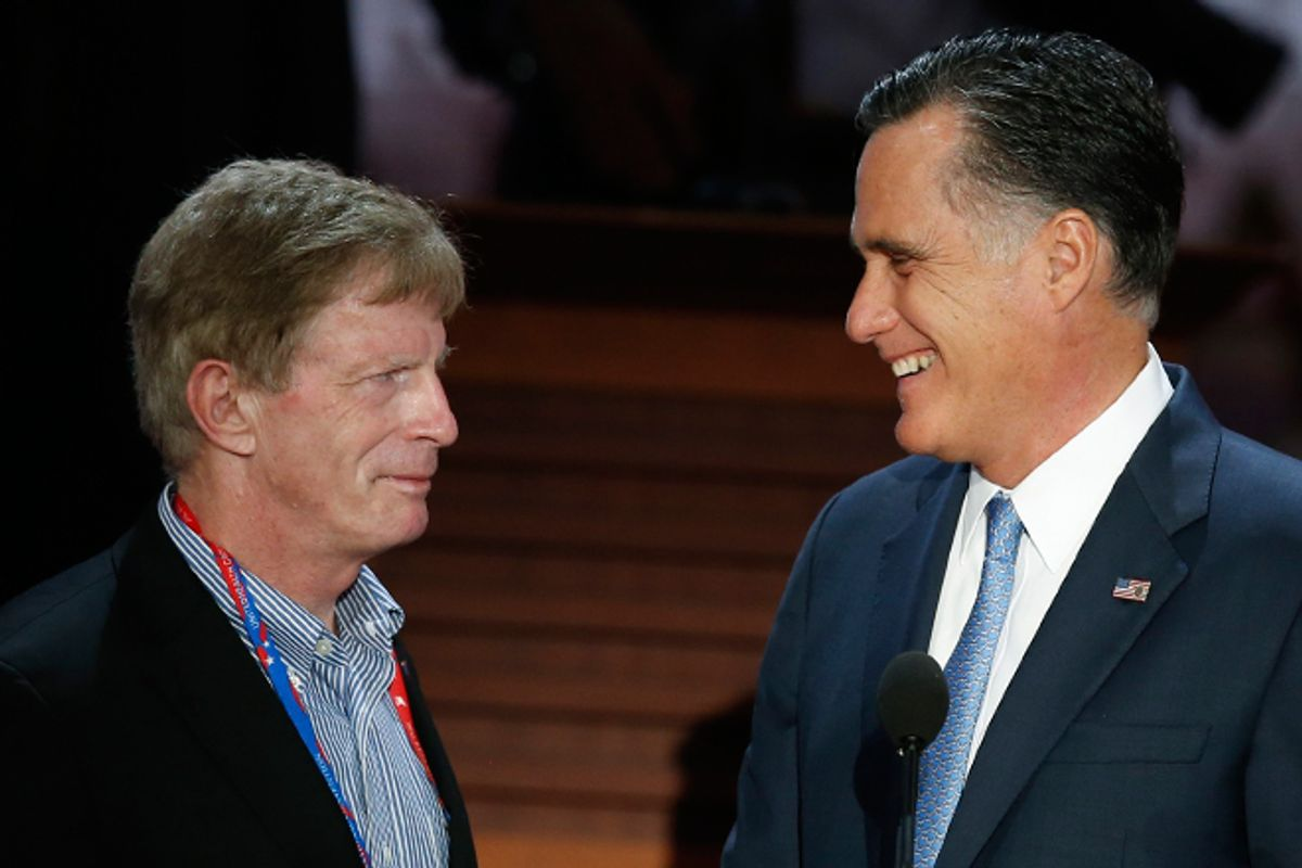 Stuart Stevens and Mitt Romney  (Reuters/Mike Segar)