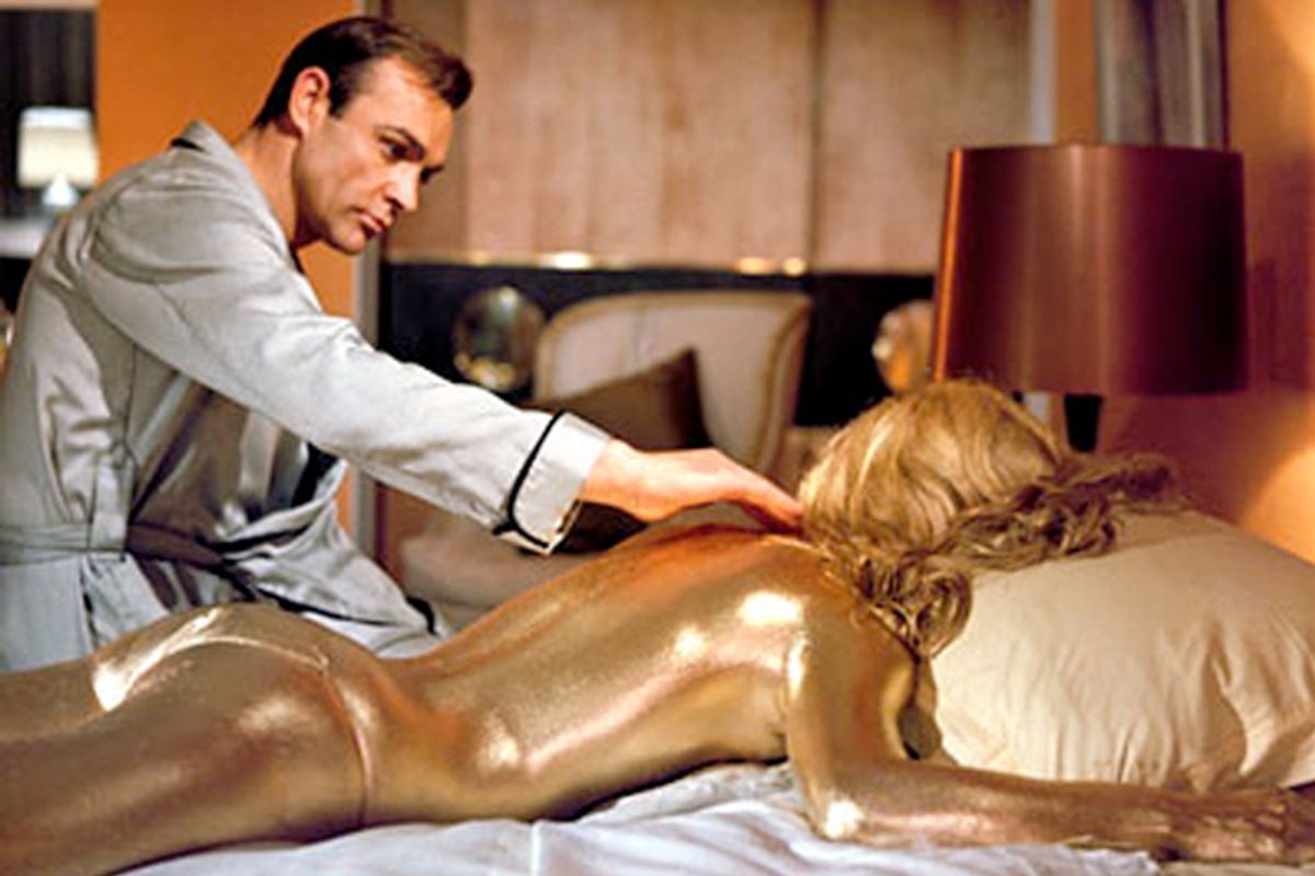 """Sean Connery in """"Goldfinger"""""""