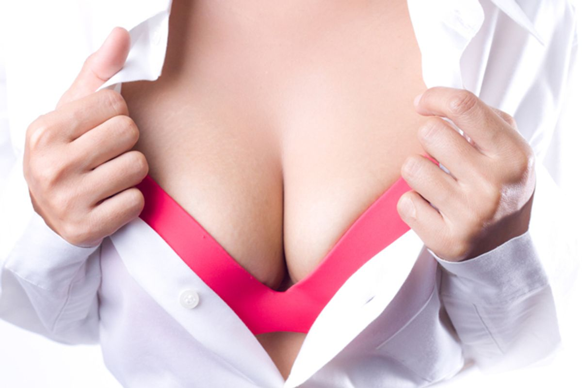 Breasts nice women with Russian woman