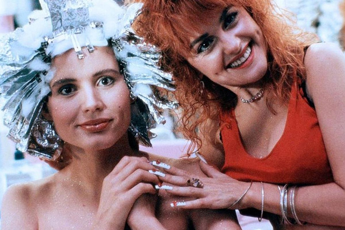 """Geena Davis and Julie Brown in """"Earth Girls Are Easy"""""""