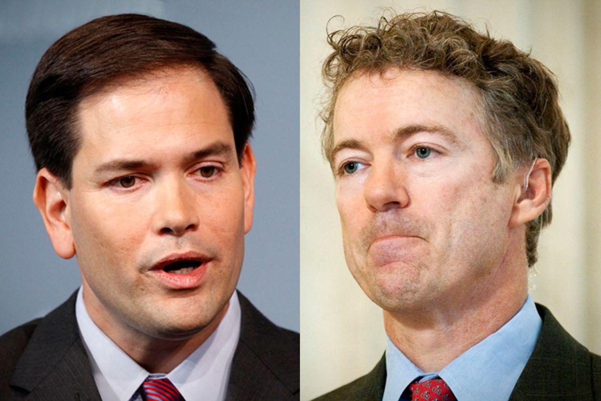 Sens. Marco Rubio and Rand Paul      (AP/Haraz N. Ghanbari/Reuters/Jonathan Ernst)