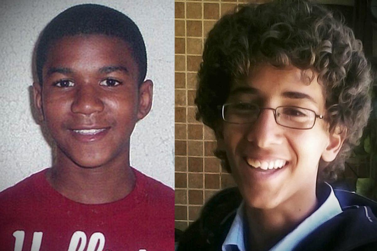 Travyon Martin and Abdulrahman al-Aulaqi (AP/HO, Martin Family Photos/Facebook)