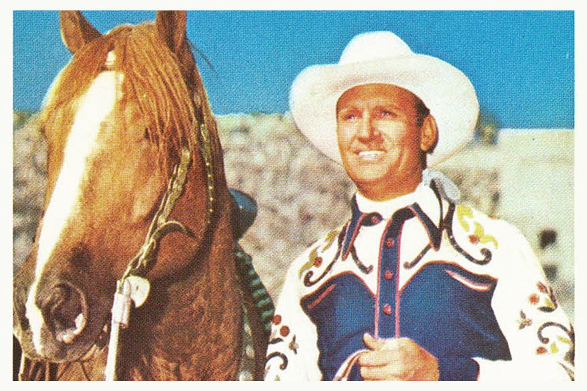 Gene Autry and Champion.