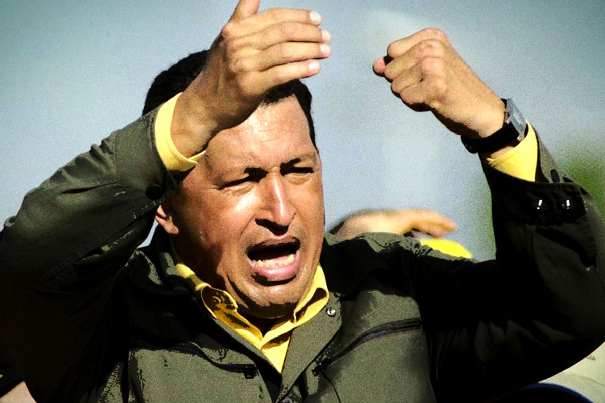 Hugo Chavez        (AP/Leslie Mazoch, photo treatment by Salon)